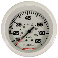 10 - 65 Speedo, White, 3 3/8 inch complete with hose, 25 Feet.