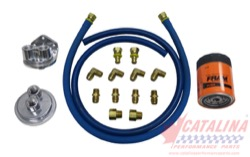 "Complete ""Cast"" Remote Oil Filter Kit. Assembly Required."