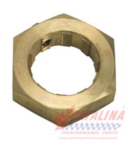 Brass Hex Nut complete with Stainless Steel Set Screw.