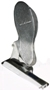 Floor Mount Foot Throttle, Polished Aluminum, Push to Accelerate. <br><br> (Uses Standard 33C Cables).