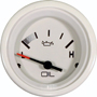 Oil Pressure, White, 2 1/8 inch. 0 - 80 PSI.