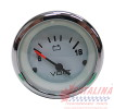 Voltmeter, White Chrome, 2 1/8 inch.