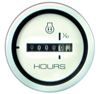 Hour Meter, White, 2 1/8 inch.